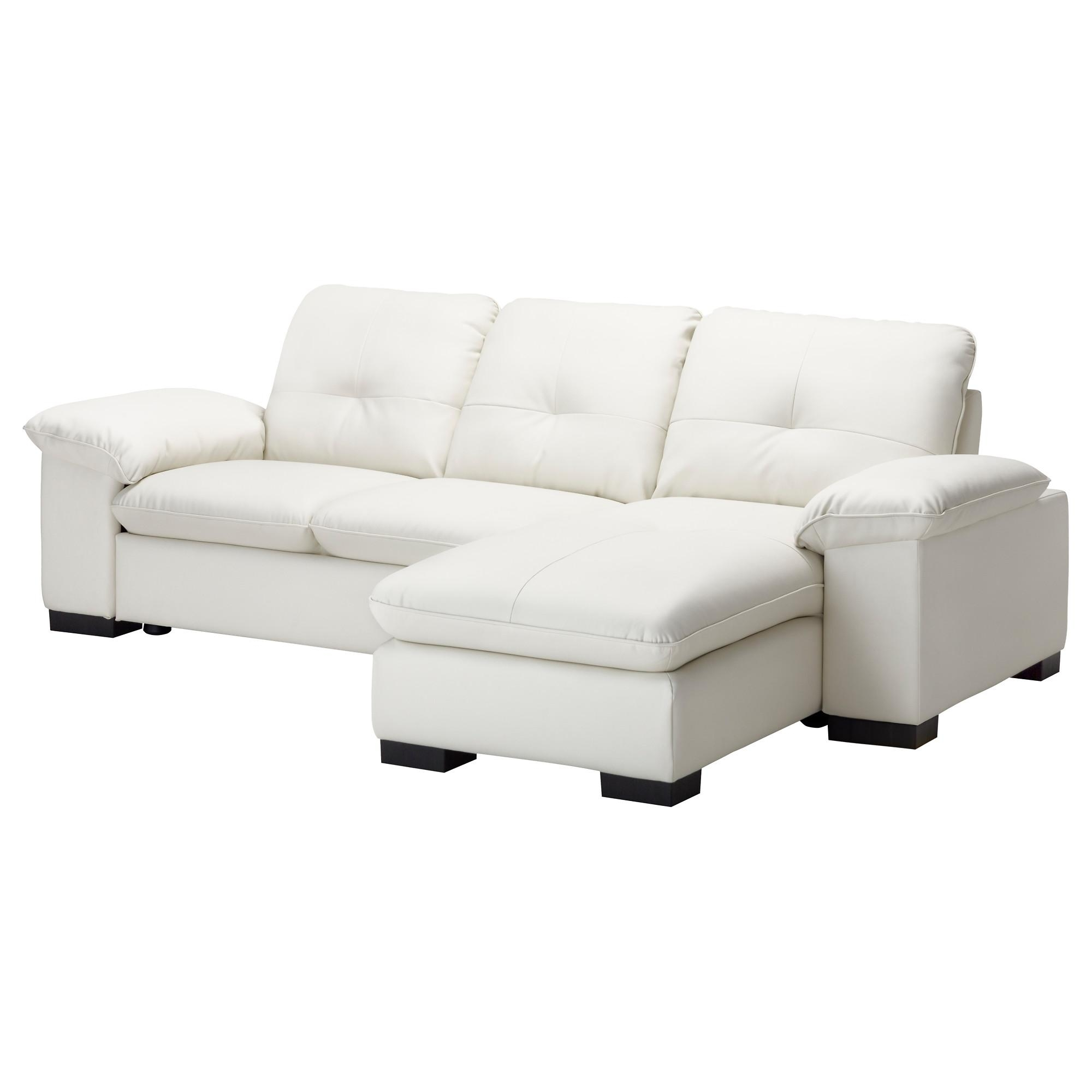 Dagstorp 2 Seat Sofa With Chaise Longue – Kimstad Off White – Ikea For Ikea Chaise Lounge Sofa (Image 3 of 20)
