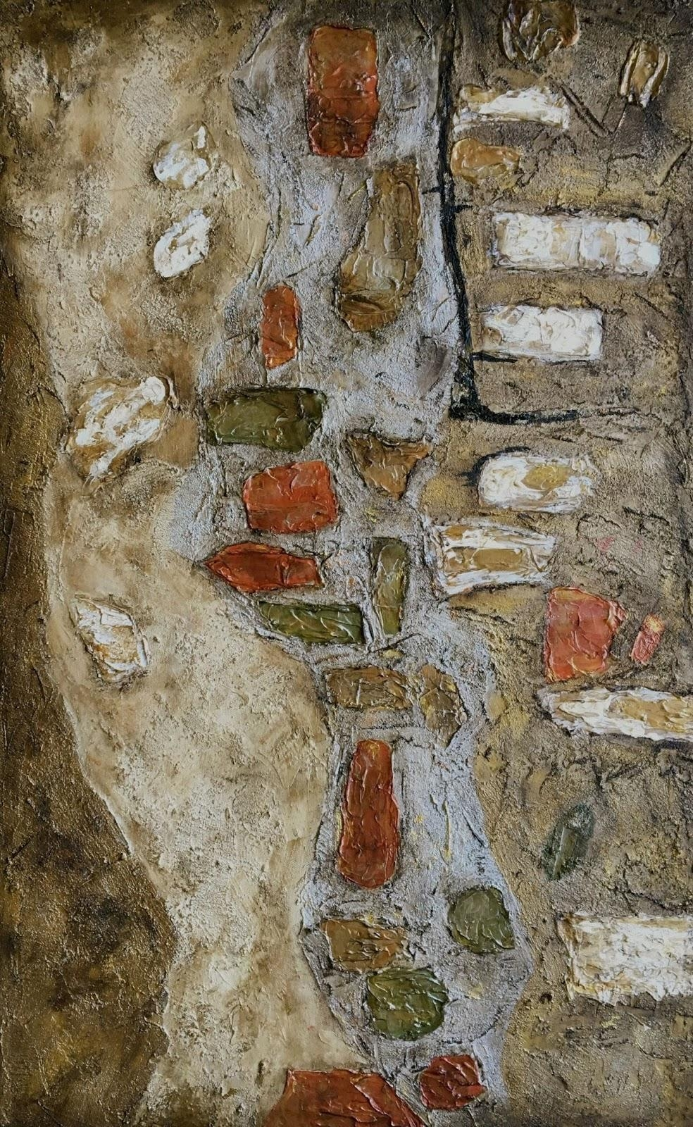 Daily Painters Abstract Gallery: Italian Architecture, Mixed Media Inside Italian Stone Wall Art (Image 10 of 20)