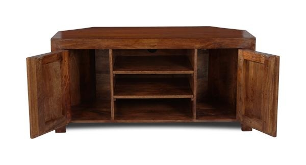 Dakota Corner Tv Unit | Trade Furniture Company™ In 2017 Dark Wood Corner Tv Cabinets (Image 10 of 20)