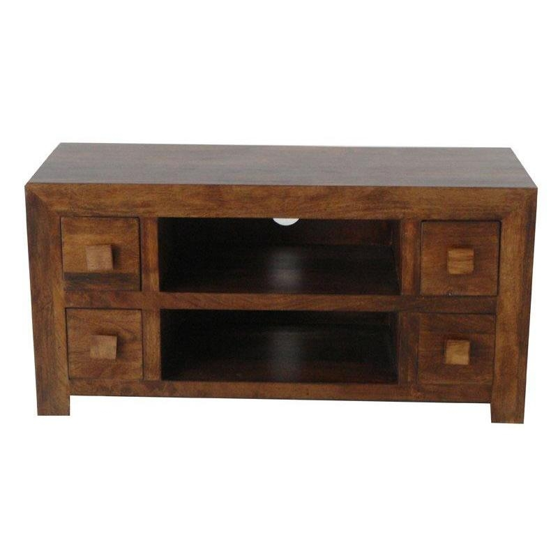 Dakota Mango 4 Drawer Tv Unit – Next Day Delivery Dakota Mango 4 With Regard To 2018 Mango Tv Units (Image 7 of 20)
