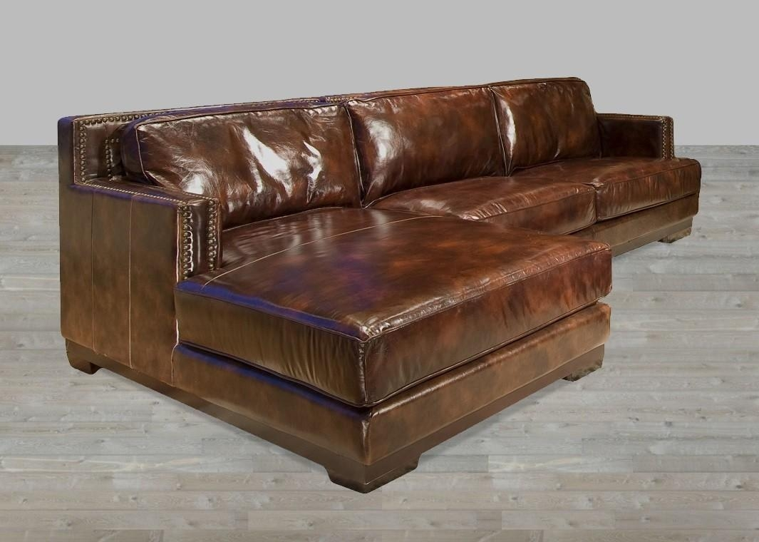 Dark Brown Leather Sectional Sofa With Chaise Lounge Pertaining To Sofas With Chaise Longue (Image 5 of 20)