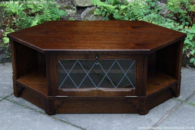Dark Oak Tv Cabinet – Second Hand Household Furniture, Buy And Pertaining To Most Recently Released Dark Wood Corner Tv Stands (Image 13 of 20)