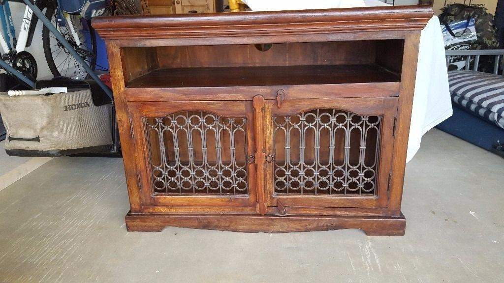 Dark Wood Jali Tv Cabinet/unit | In Dursley, Gloucestershire | Gumtree Intended For 2017 Jali Tv Cabinets (View 9 of 20)