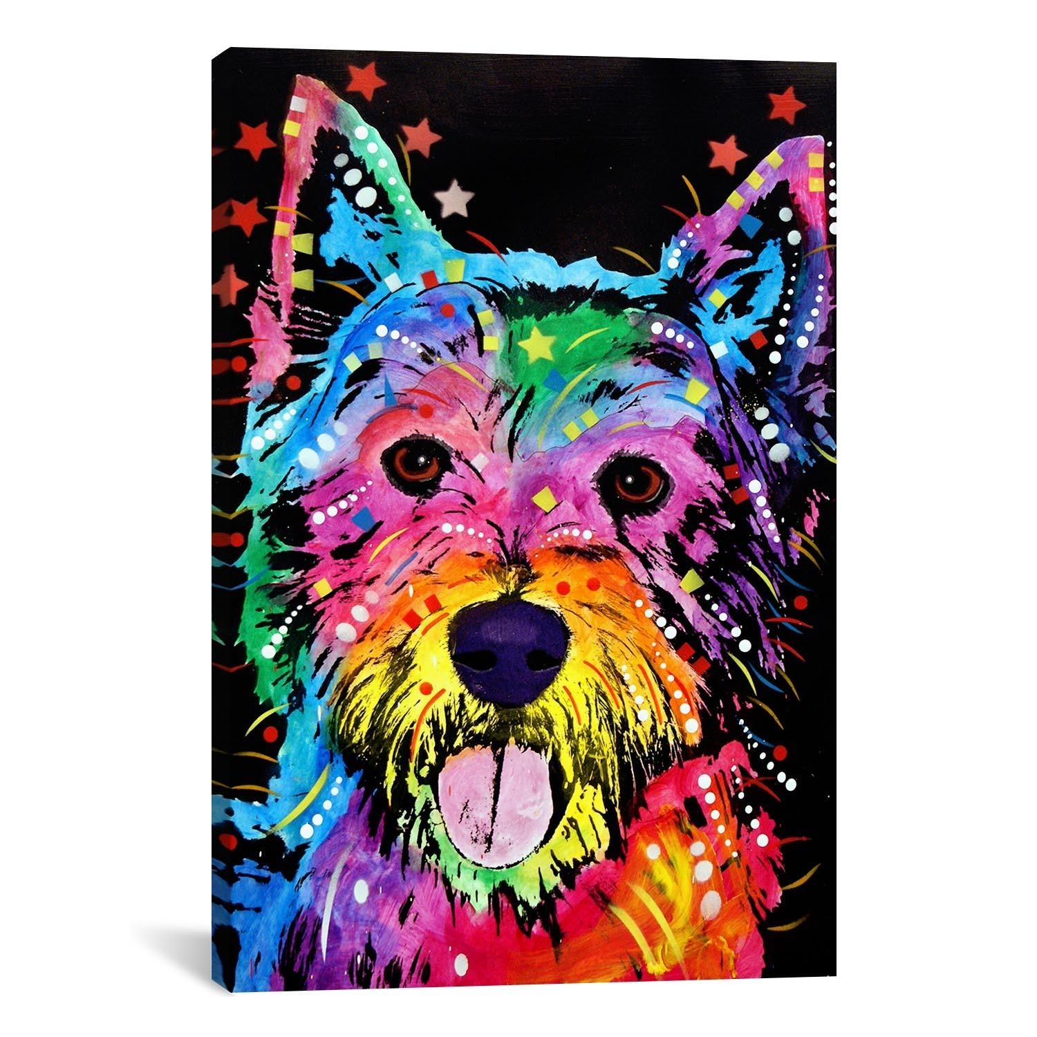 Dean Russo Art: Westie With Westie Wall Art (Image 5 of 20)