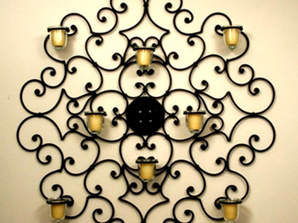 Decor : 24 Beautiful Wrought Iron Garden Wall Art 44 For Your Throughout Stylecraft Home Collection Wall Art (Image 9 of 20)