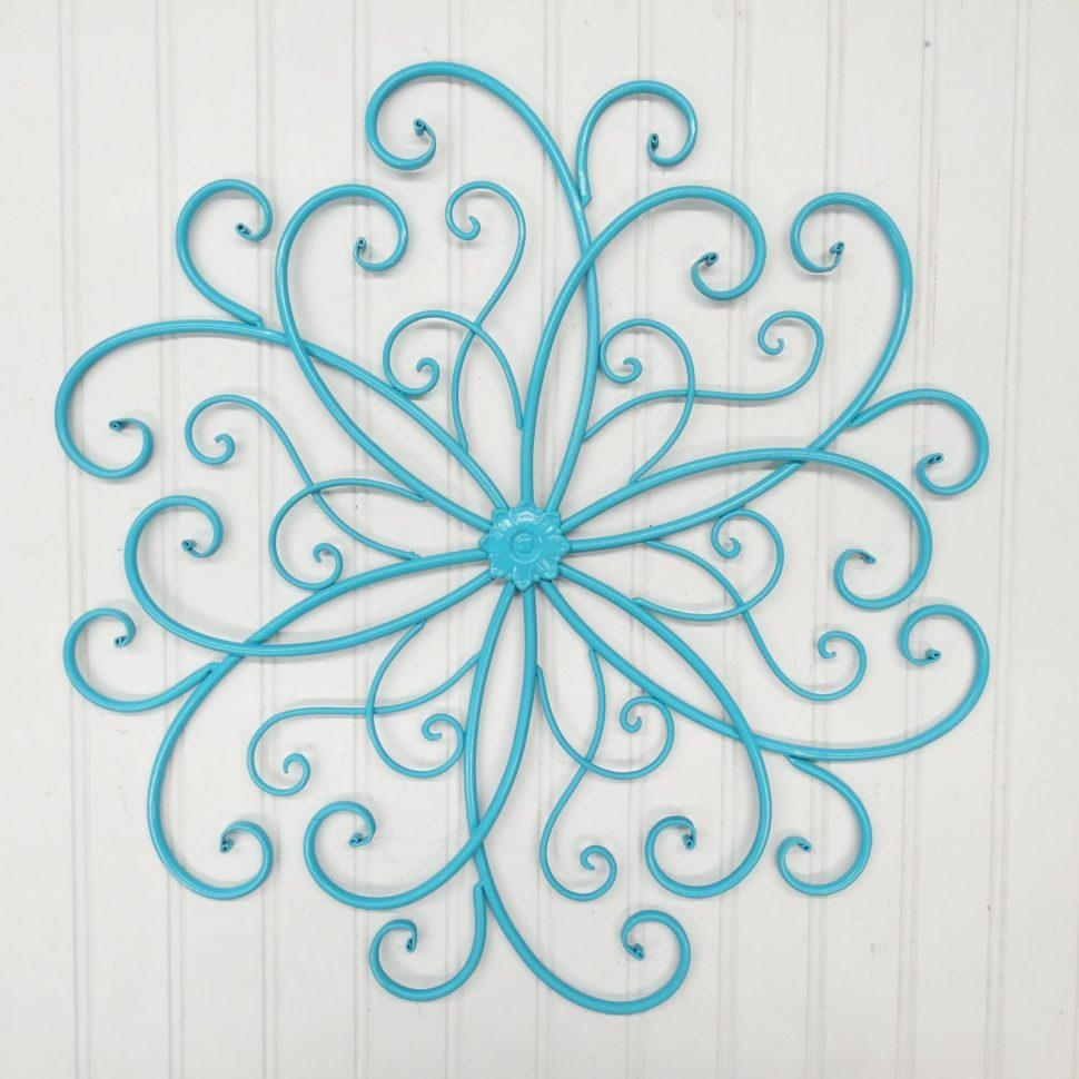 Decor : 24 Beautiful Wrought Iron Garden Wall Art 44 For Your Throughout Stylecraft Home Collection Wall Art (Image 8 of 20)