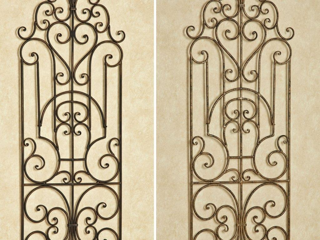 Decor : 24 Beautiful Wrought Iron Garden Wall Art 44 For Your With Stylecraft Home Collection Wall Art (Image 11 of 20)