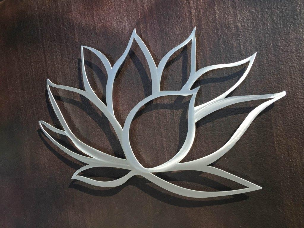 Decor : 38 Awesome Silver Metal Wall Art Flowers 22 About Remodel Throughout Silver Metal Wall Art Flowers (Image 7 of 20)