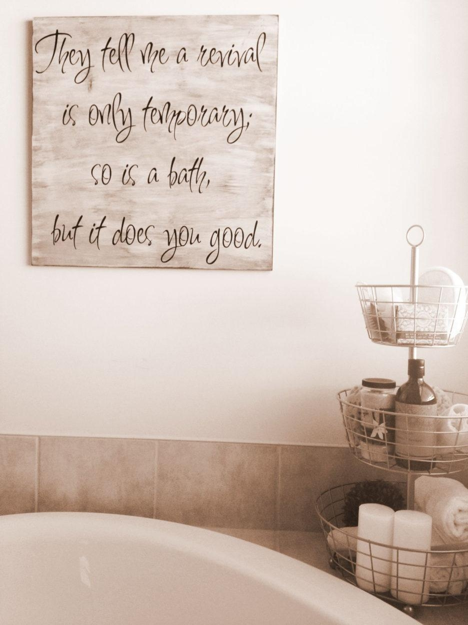 Decorating Ideas For Bathroom Walls Classy Design Classic Diy With Regard To Glamorous Bathroom Wall Art (View 7 of 20)