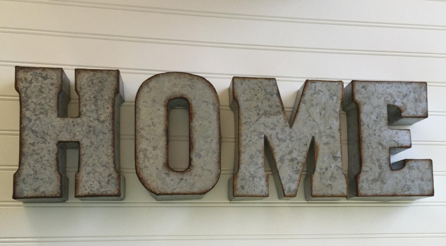 Decorative Metal Letter/ You Pick / Home /wall Letter Sign / Throughout Decorative Metal Letters Wall Art (Image 6 of 20)