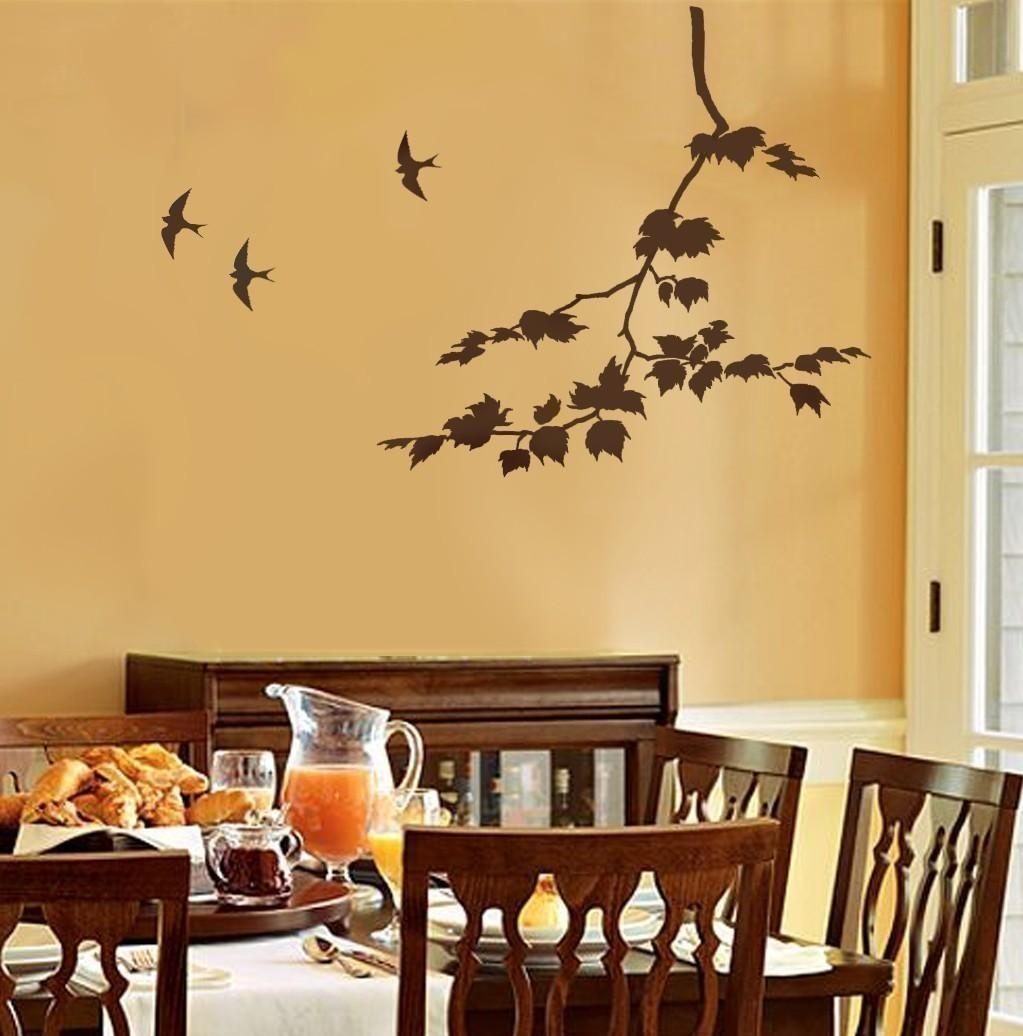 Decorative Wall Stencils Home Decor And Design Contemporary Intended For Stencil Wall Art (View 8 of 20)