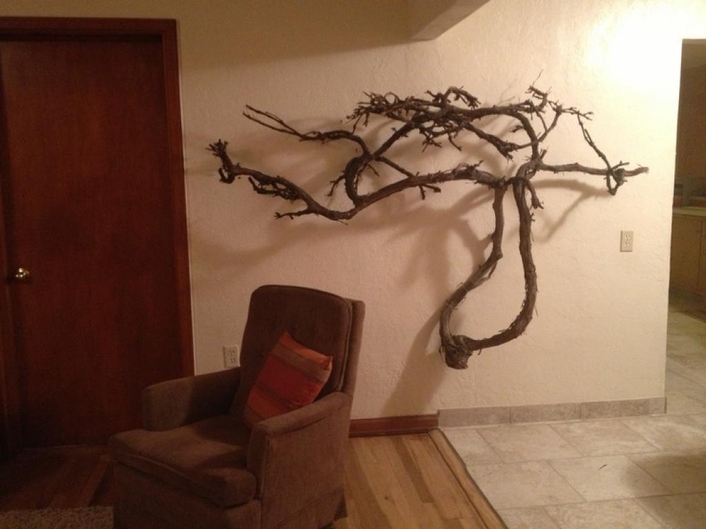 Del Mar California Metal Wall Art Metal Wall Sculpture Home Throughout Grape Vine Metal Wall Art (Image 5 of 20)