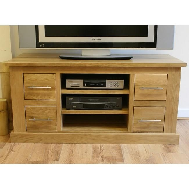 Delamere Light Oak Tv Stand With Dvd Storage | Click Oak With Recent Light Oak Tv Cabinets (View 10 of 20)