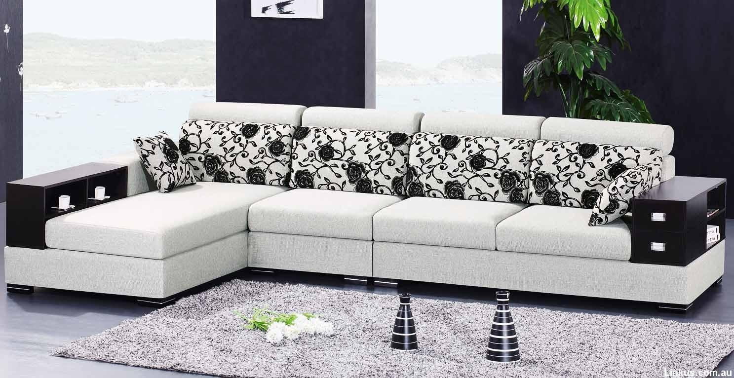 Deluxe Furniture L Shaped Sofa Design Minimalist Interior L Shaped With Regard To L Shaped Fabric Sofas (View 6 of 20)