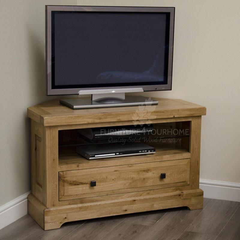 Deluxe Solid Oak Corner Tv Plasma Unit – Furniture4Yourhome.co (Image 7 of 20)