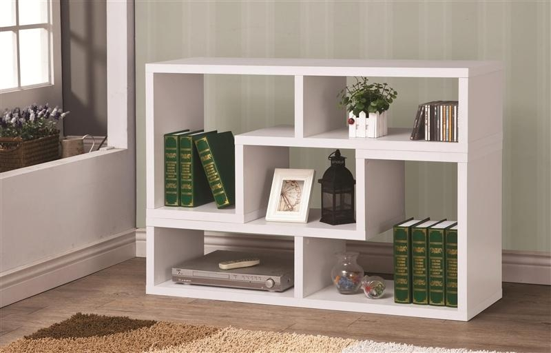 Design It You Way White Bookcase Tv Standcoaster – 800330 With Regard To 2017 Tv Stands And Bookshelf (Image 11 of 20)