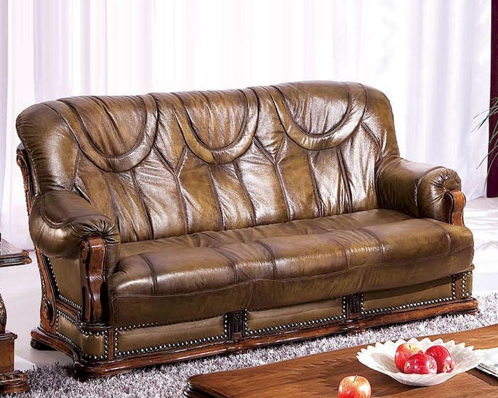 Design Leather Sofa Bed In Light Brown Finish 33Ss182 Regarding European Leather Sofas (Image 2 of 21)