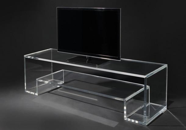 Design Of The Day: Beautiful Acrylic Tv Stand Inside Current Clear Acrylic Tv Stands (Image 11 of 20)
