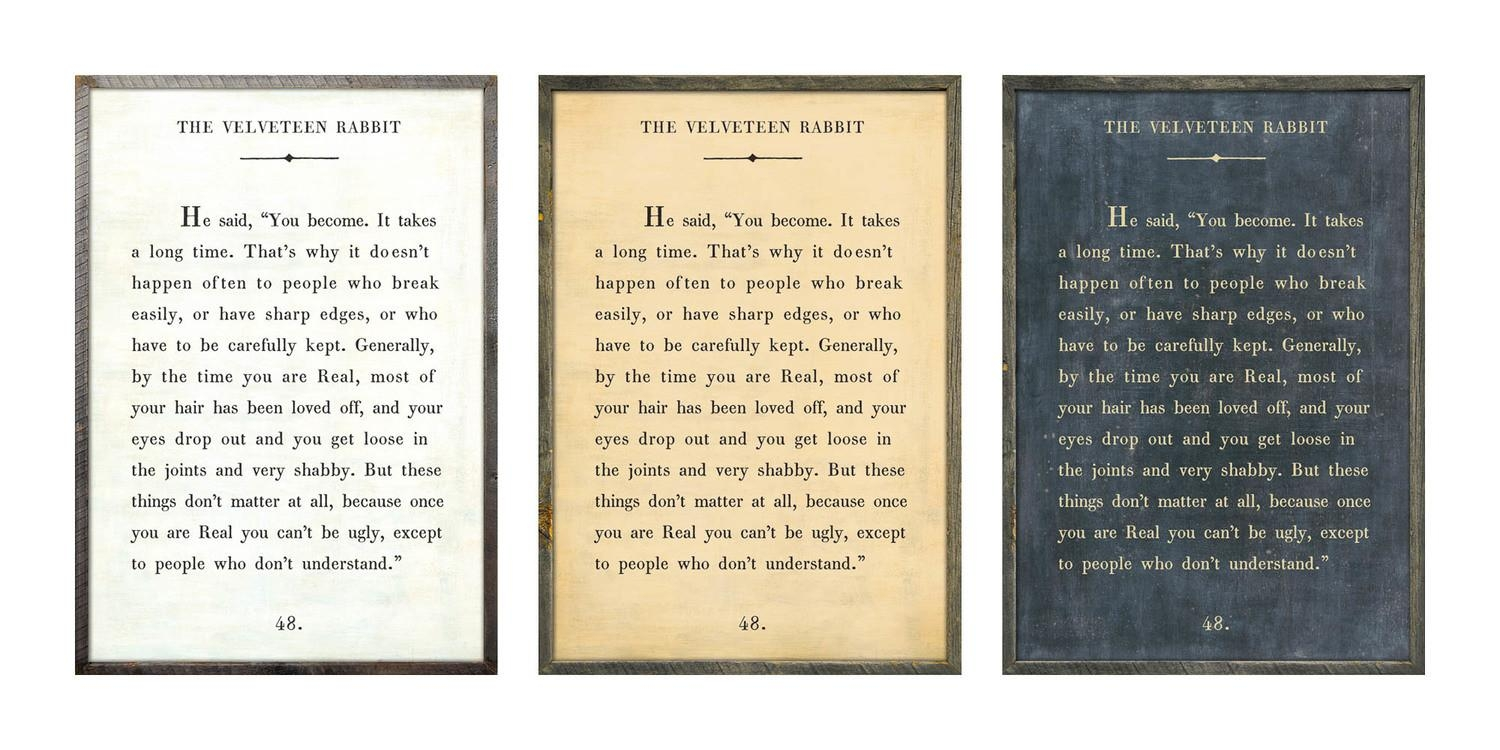 Designs: The Velveteen Rabbit Book Print With Regard To Velveteen Rabbit Wall Art (View 2 of 20)