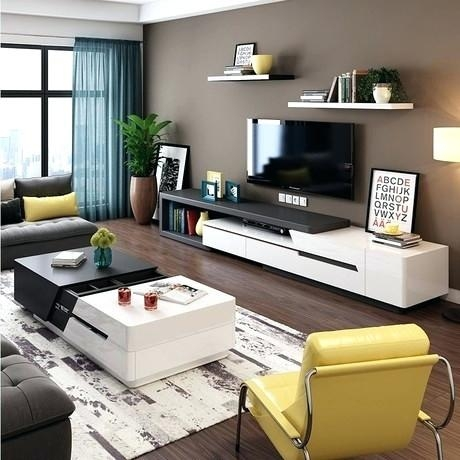 20 collection of tv stand and computer desk combo tv cabinet and stand ideas. Black Bedroom Furniture Sets. Home Design Ideas