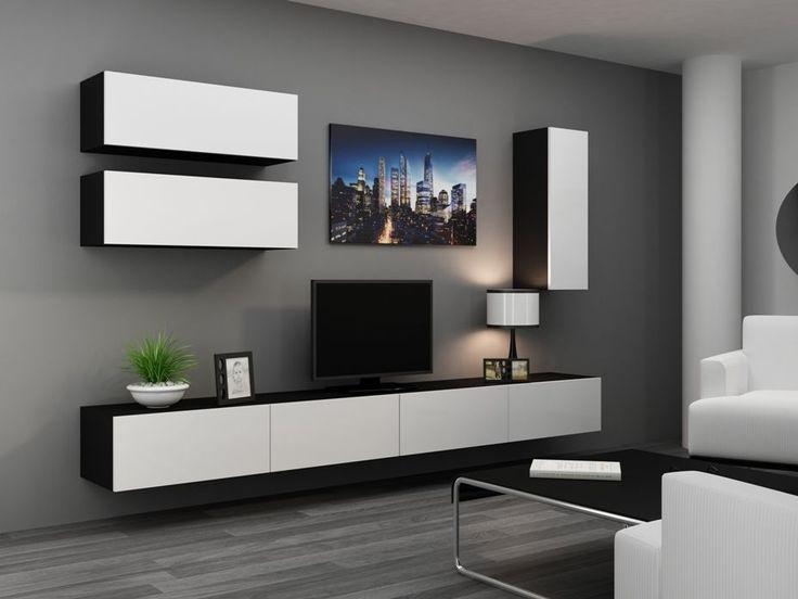 Details About High Gloss Tv Cabinet / Tv Wall Unit / Tv Stand For Current Black Gloss Tv Wall Unit (Image 8 of 20)