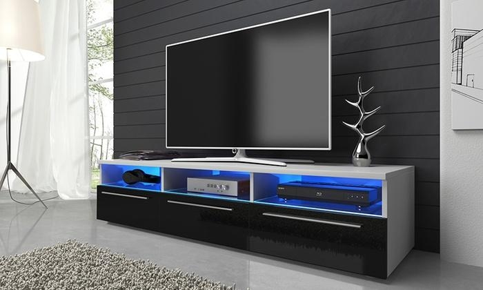 Detroit Tv Cabinet | Groupon Goods For Most Up To Date Led Tv Cabinets (Image 7 of 20)