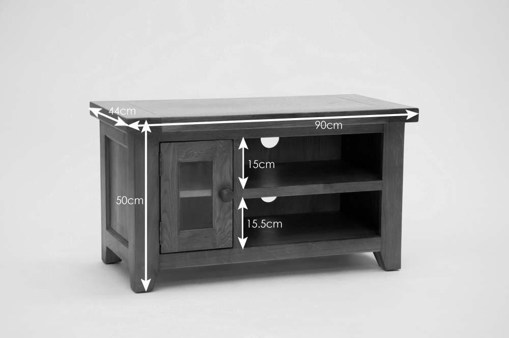 Devon Small Tv Unit In Oak – Beyond Stores For Current Small Black Tv Cabinets (Image 11 of 20)