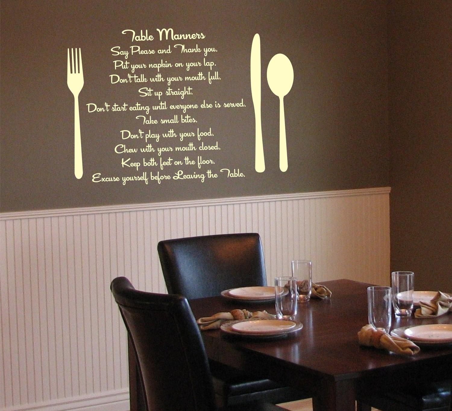 Dining Room Vinyl Wall Decals » Dining Room Decor Ideas And Throughout As For Me And My House Vinyl Wall Art (View 9 of 20)