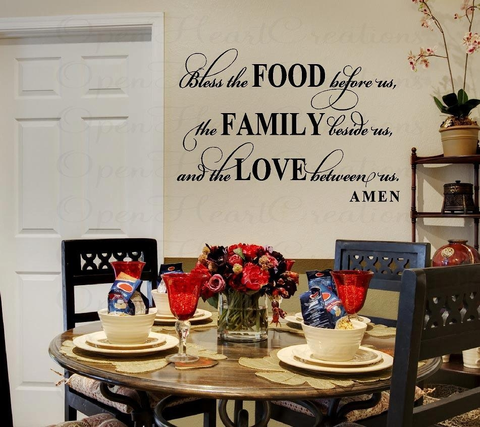 Dining Room Wall Stickers » Dining Room Decor Ideas And Showcase With Regard To Art For Dining Room Walls (View 6 of 20)