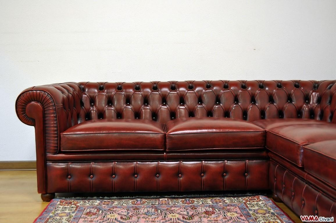 Distressed Leather Chesterfield Sofa | Centerfieldbar With Vintage Leather Sofa Beds (Image 6 of 20)