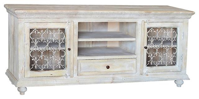 Distressed White Tv Stand White Distressed Wood Tv Stand Home With Most Current Rustic White Tv Stands (Image 8 of 20)