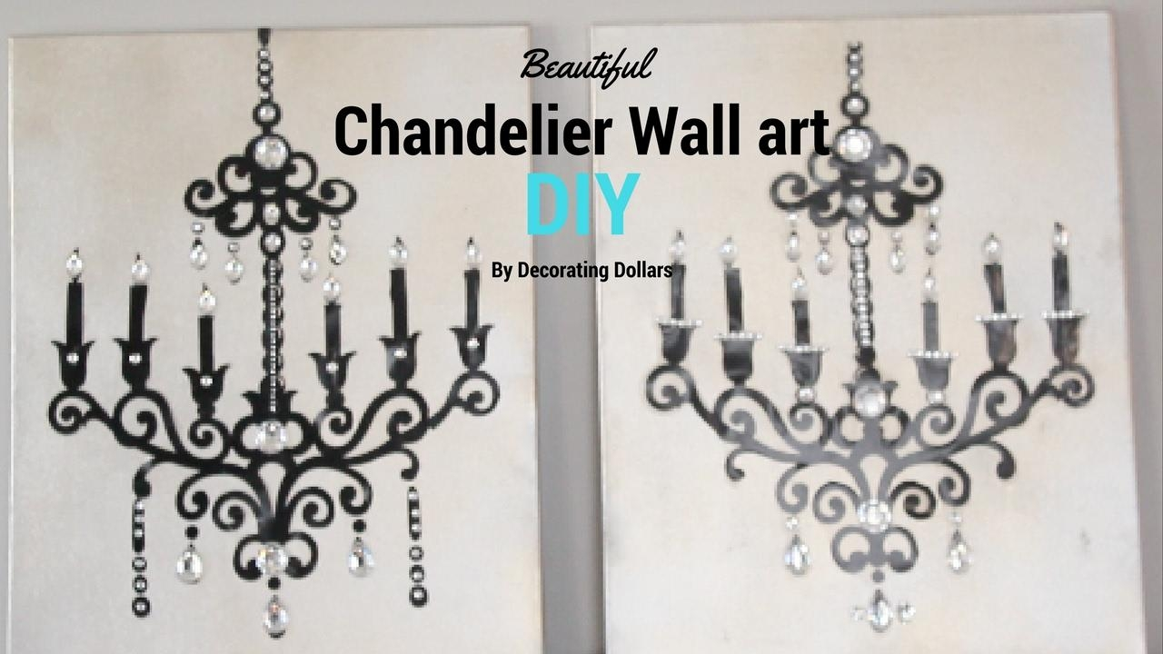 Diy: Beautiful Chandelier Wall Art – Youtube In Metal Chandelier Wall Art (Image 8 of 20)