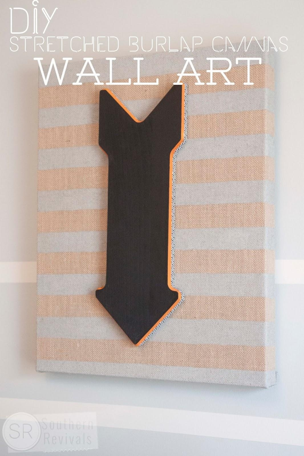 Diy Burlap Canvas Wall Art | Wanna Join Me For A Pinterest Party For Michaels Wall Art (Image 4 of 20)