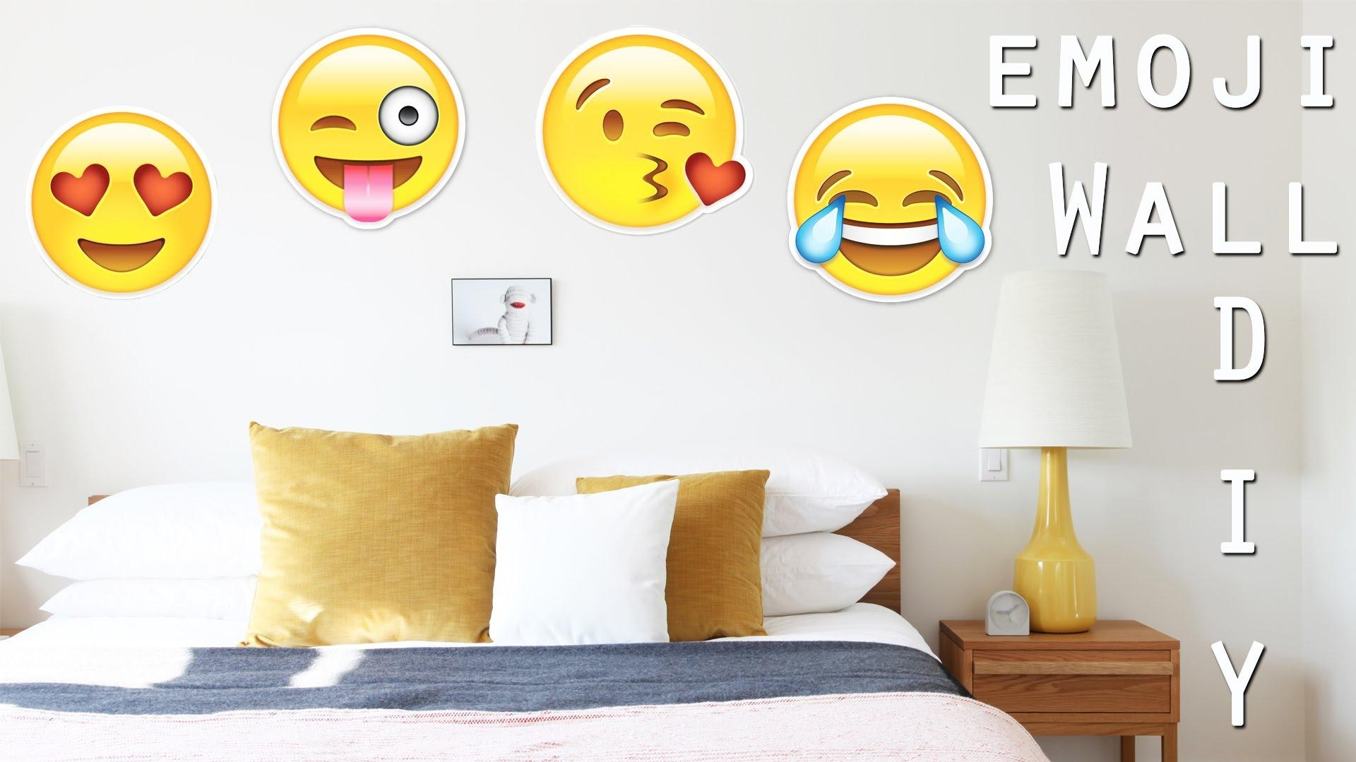 Diy: Emoji Wall Decor | Paper Emoji | Super Easy Diy With Dianata Inside Emoji Wall Art (Image 10 of 20)