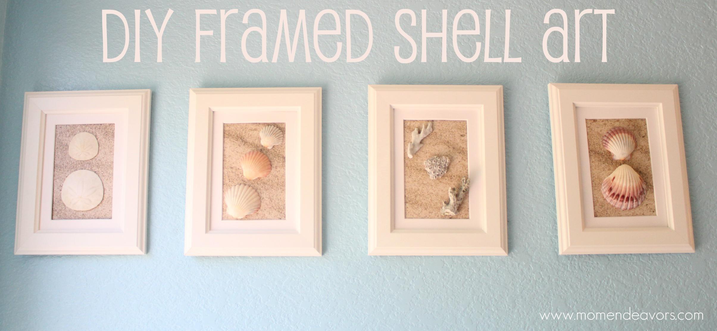 Diy Framed Shell Art Regarding Wall Art With Seashells (Image 12 of 20)