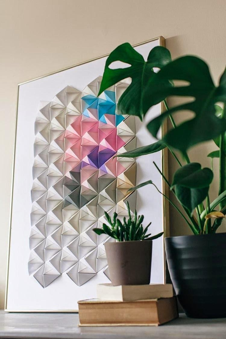 Diy Monday # Origami – Ohoh Blog Regarding Diy Origami Wall Art (Image 3 of 20)
