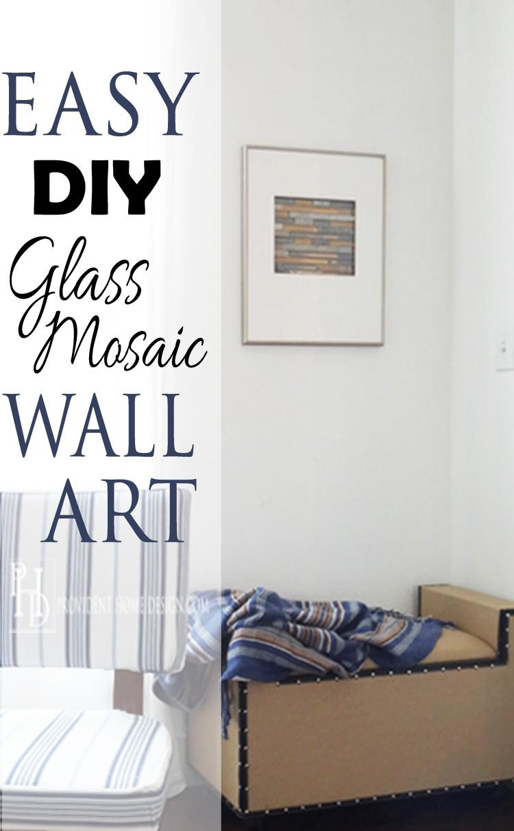 Diy Mosaic Tile Wall Art Regarding Diy Mosaic Wall Art (Image 17 of 20)