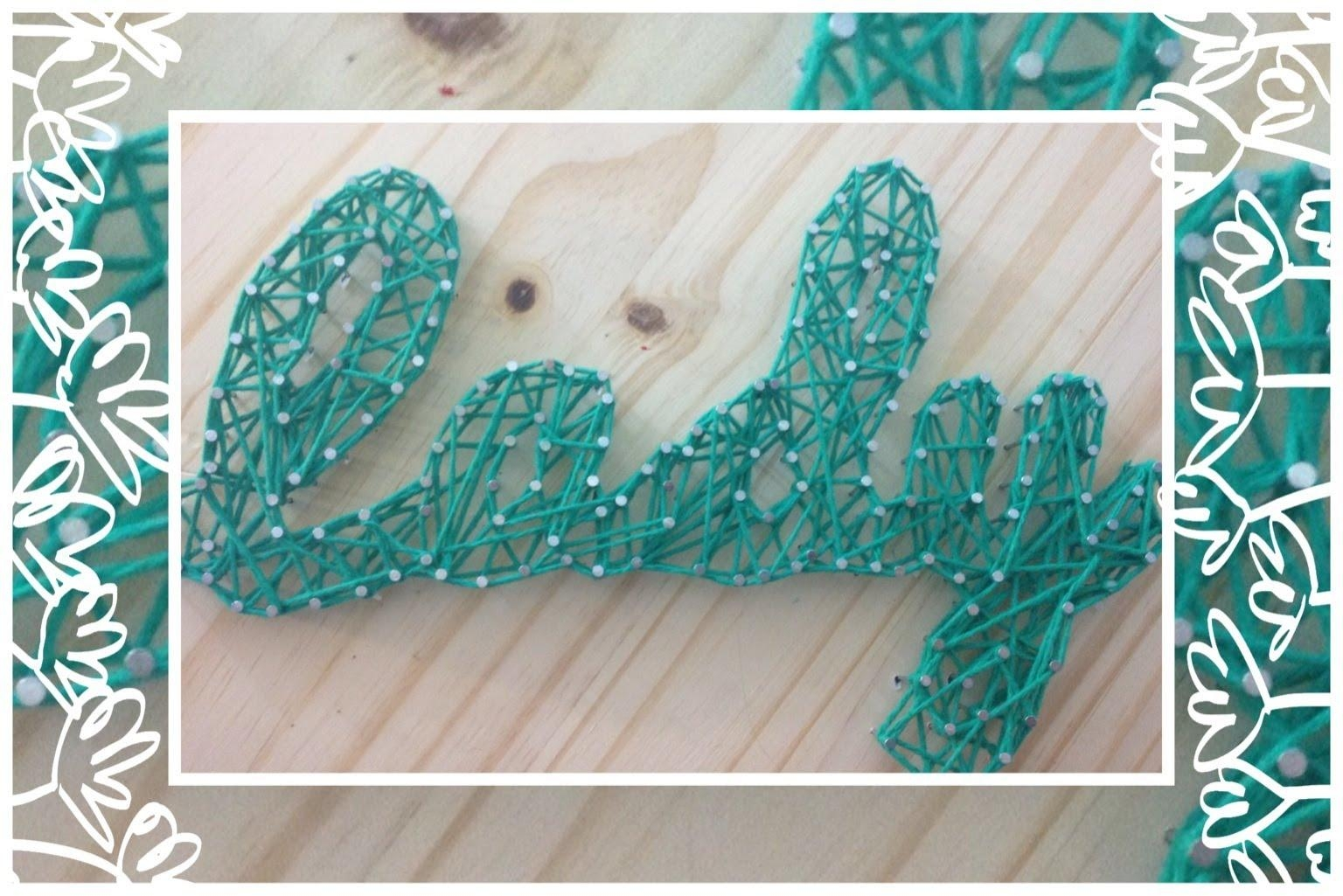 Diy Nail String Art Tutorial – Youtube Throughout Nail And Yarn Wall Art (Image 6 of 20)