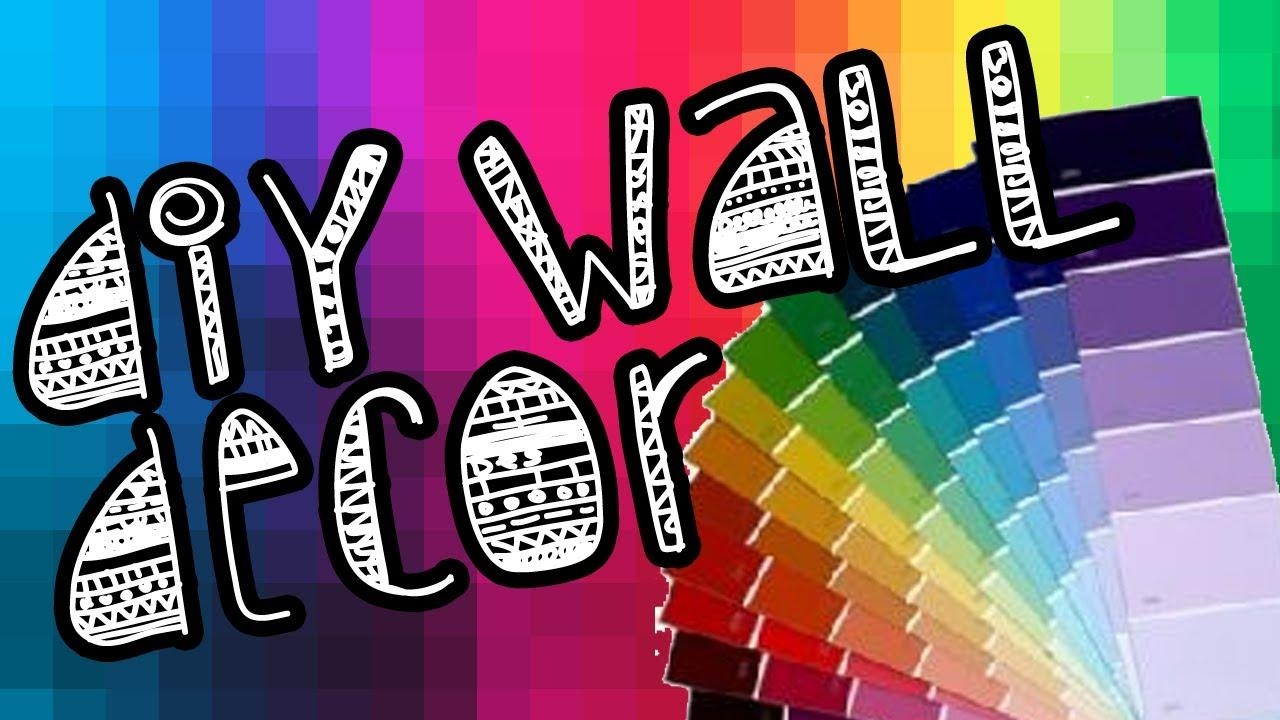 Diy] Paint Chip Wall Art – Youtube For Paint Swatch Wall Art (Image 12 of 20)