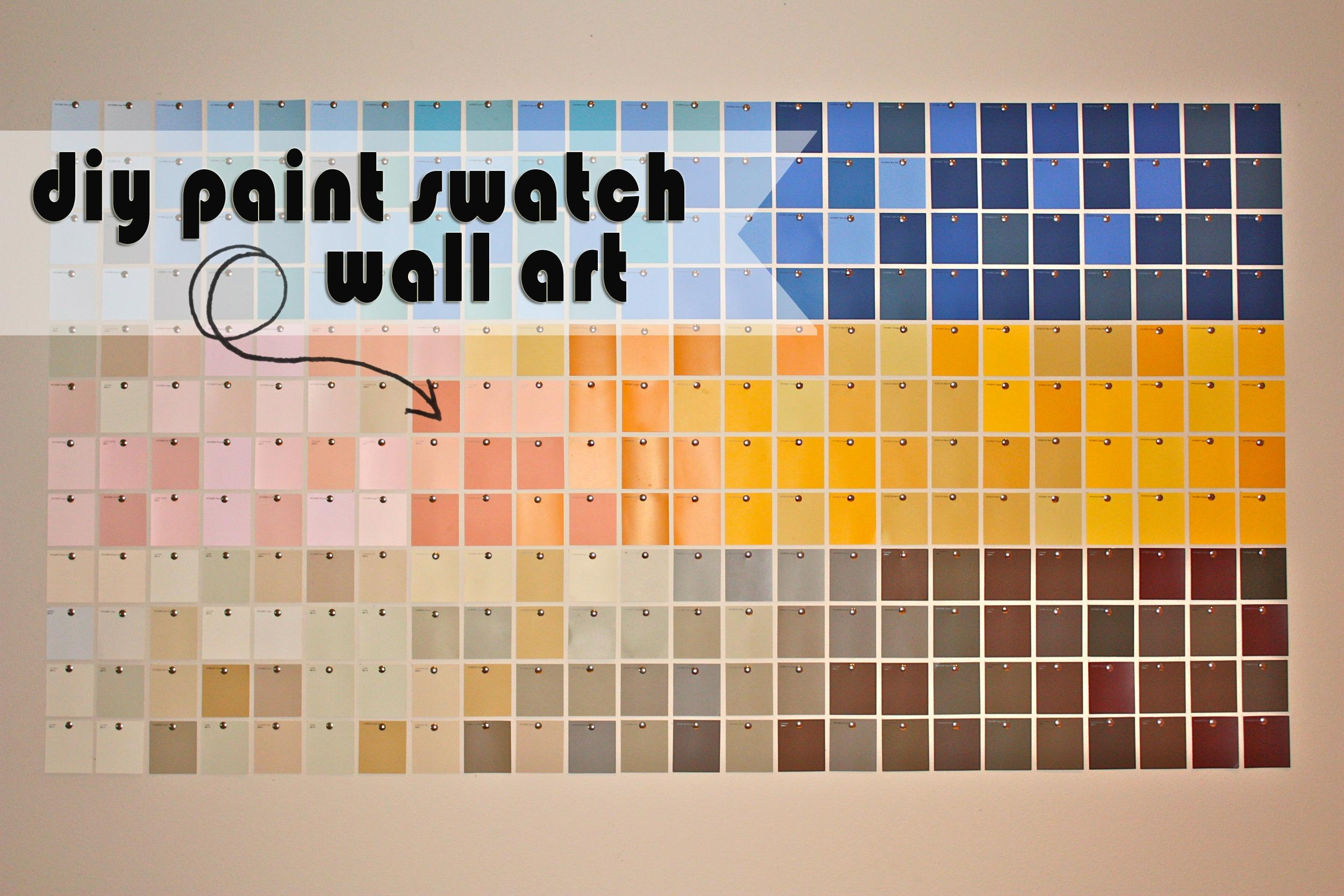 Diy Paint Swatch Wall Art | Kristen Mcashan With Regard To Paint Swatch Wall Art ( & 20 Inspirations Paint Swatch Wall Art | Wall Art Ideas