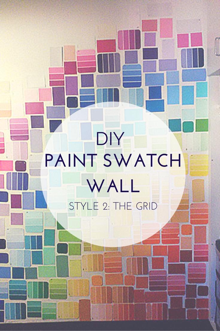 Diy: Paint Swatch Wall – Style 2: Grid – Dani Dearest Regarding Paint Swatch Wall Art (Image 11 of 20)