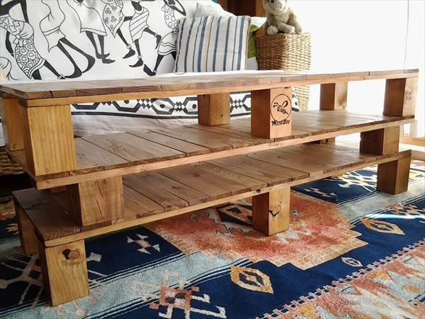Diy Pallet Coffee Table And Tv Stand | 99 Pallets Throughout Most Popular Rustic Coffee Table And Tv Stand (Image 10 of 20)