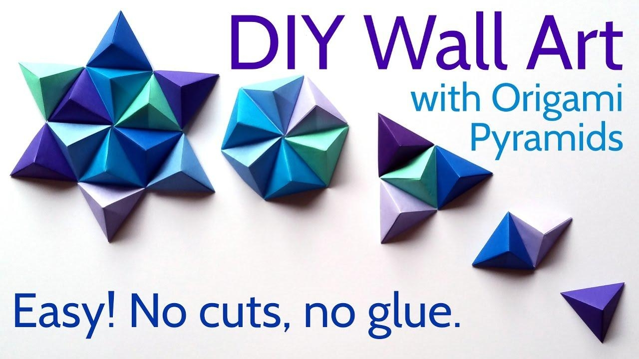 Diy Paper Wall Art With Origami Pyramid Pixels – Easy Tutorial And Intended For Diy Origami Wall Art (Image 4 of 20)