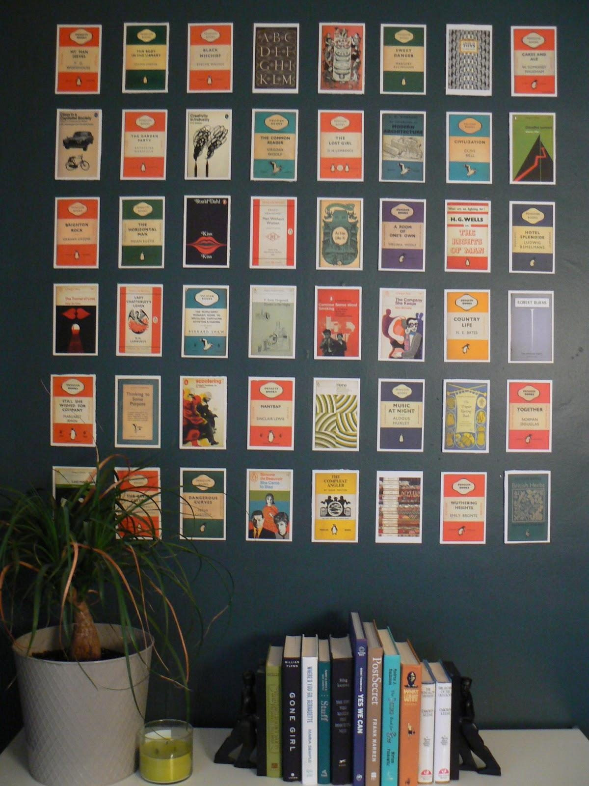Diy Postcard Wall Art | Little House Design Intended For Penguin Books Wall Art (Photo 1 of 20)