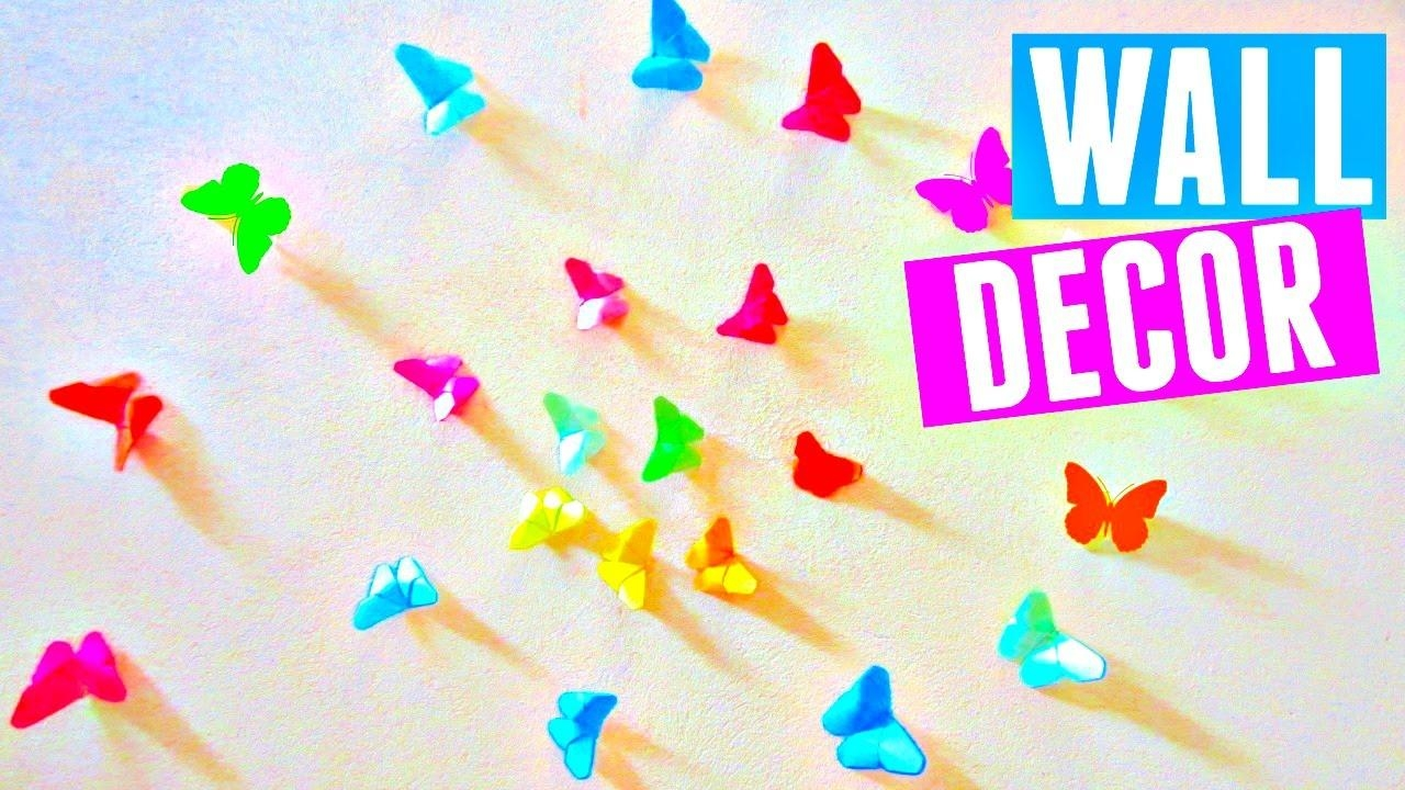 Diy Rainbow Butterfly Room Decor | How To Make An Origami intended for Rainbow Butterfly Wall Art