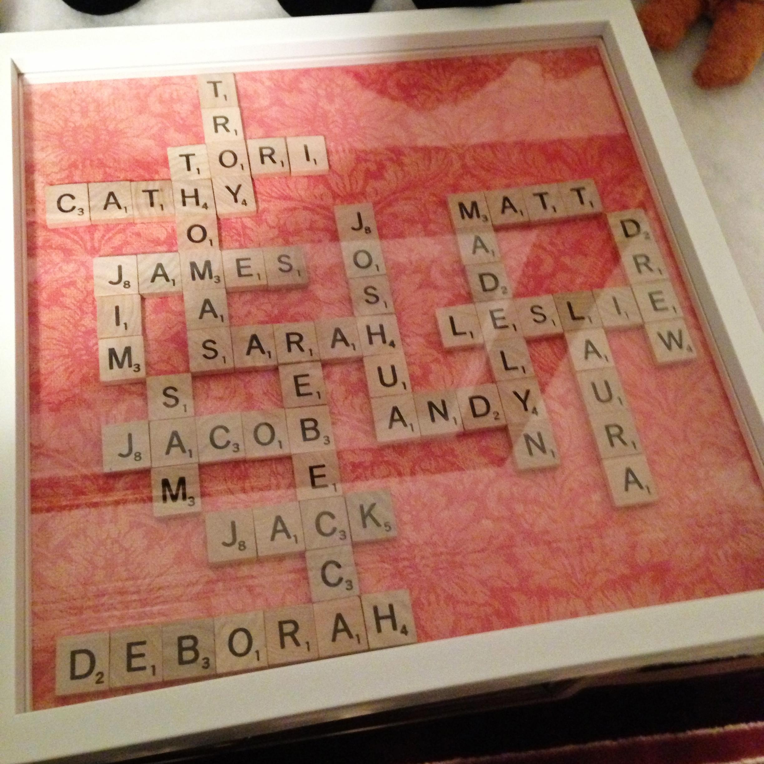 Diy Scrabble Tile Family Tree | This Is Sesame (View 18 of 20)