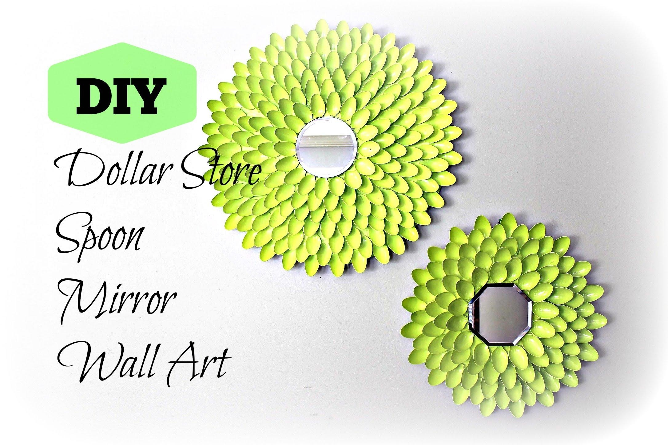 Diy: Spoon Mirror Wall Art   Under $10 ! – Youtube With Plastic Spoon Wall Art (Image 9 of 20)