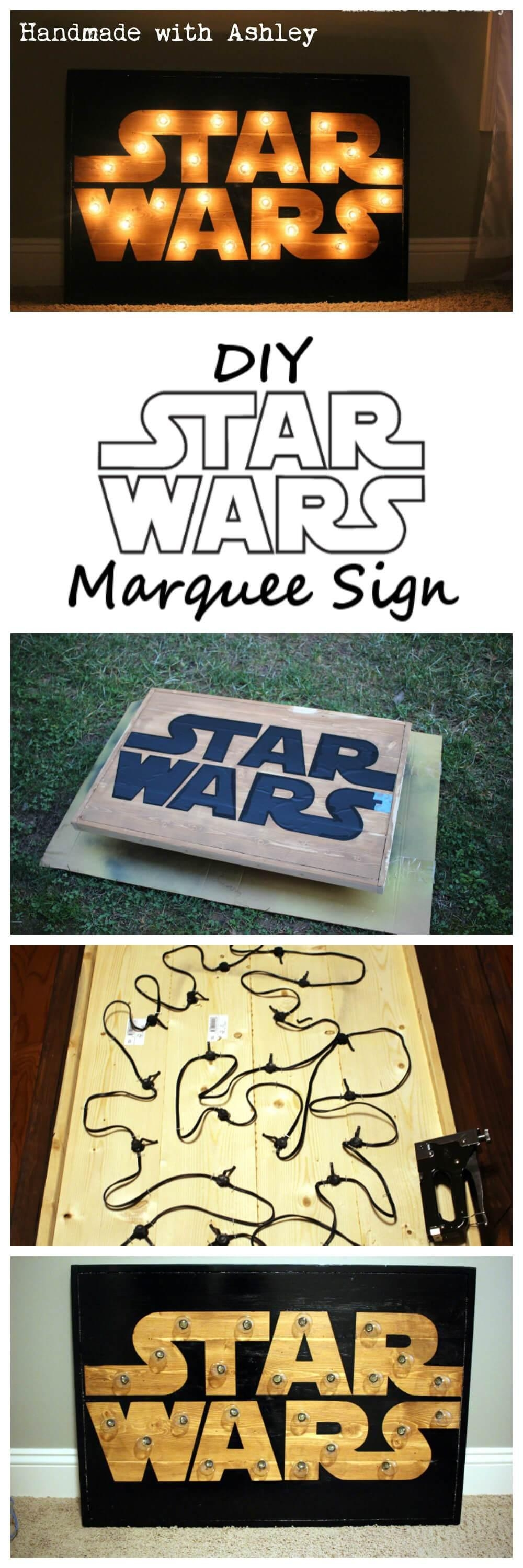 Diy Star Wars Marquee Wall Art Tutorial – Handmade With Ashley Intended For Diy Star Wars Wall Art (View 15 of 20)
