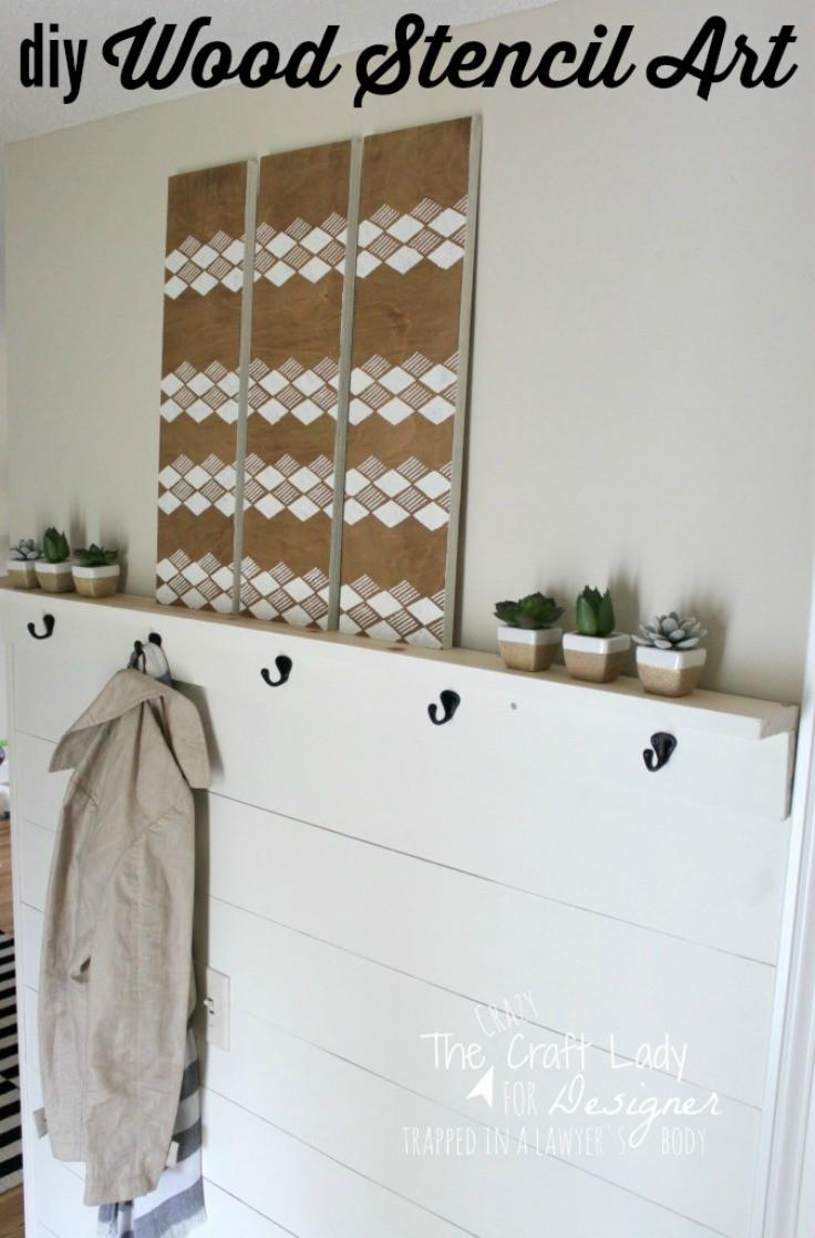 Diy Stencil Wall Art From Scrap Wood | Designer Trapped Pertaining To Stencil Wall Art (View 15 of 20)