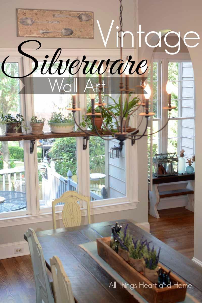 Diy Vintage Silverware Wall Art – All Things Heart And Home Regarding Silverware Wall Art (Image 4 of 20)